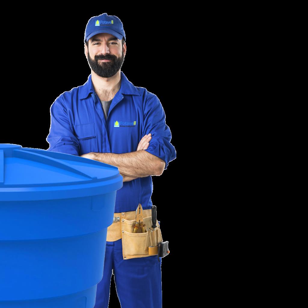 Imagem para ilustrar o técnico em limpeza de ciaxa d'água